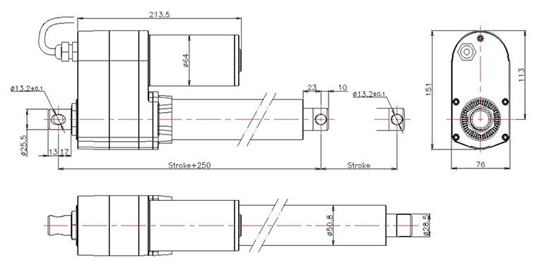 防护等级ip65   ●电位器阻值输出,霍尔脉冲信号输出,编码器输出
